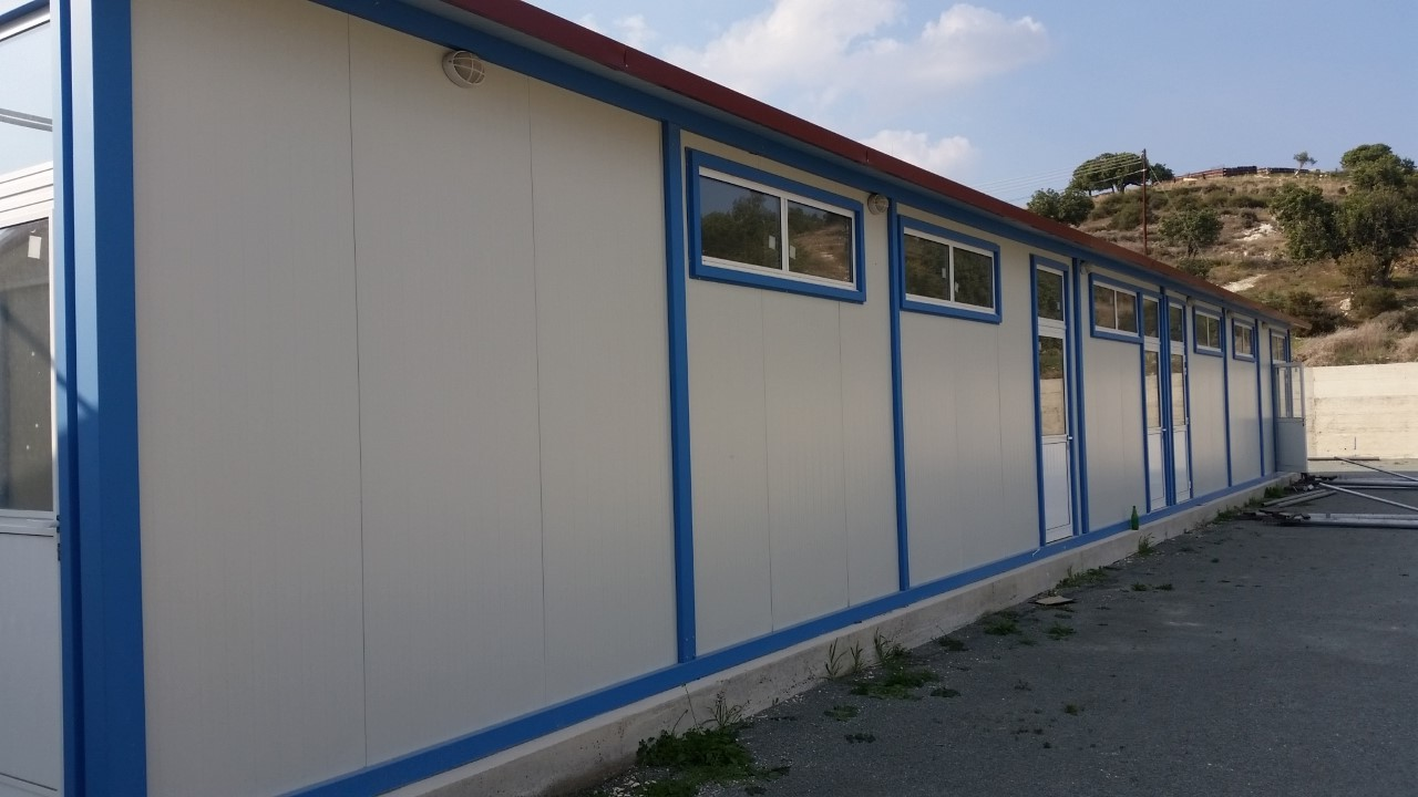 Prefabricated Changing Rooms Stadium Agios Theodoros